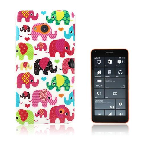 Westergaard Microsoft Lumia 640 Cover - Dejlig Farverige Elefanter