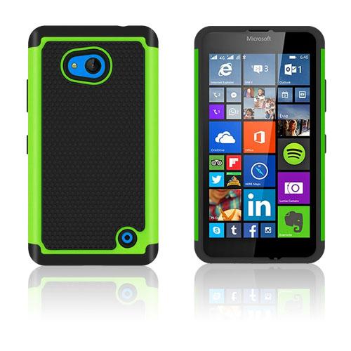 Image of   Cover til Microsoft Lumia 640 med ´fodbold mønster´ - Grøn