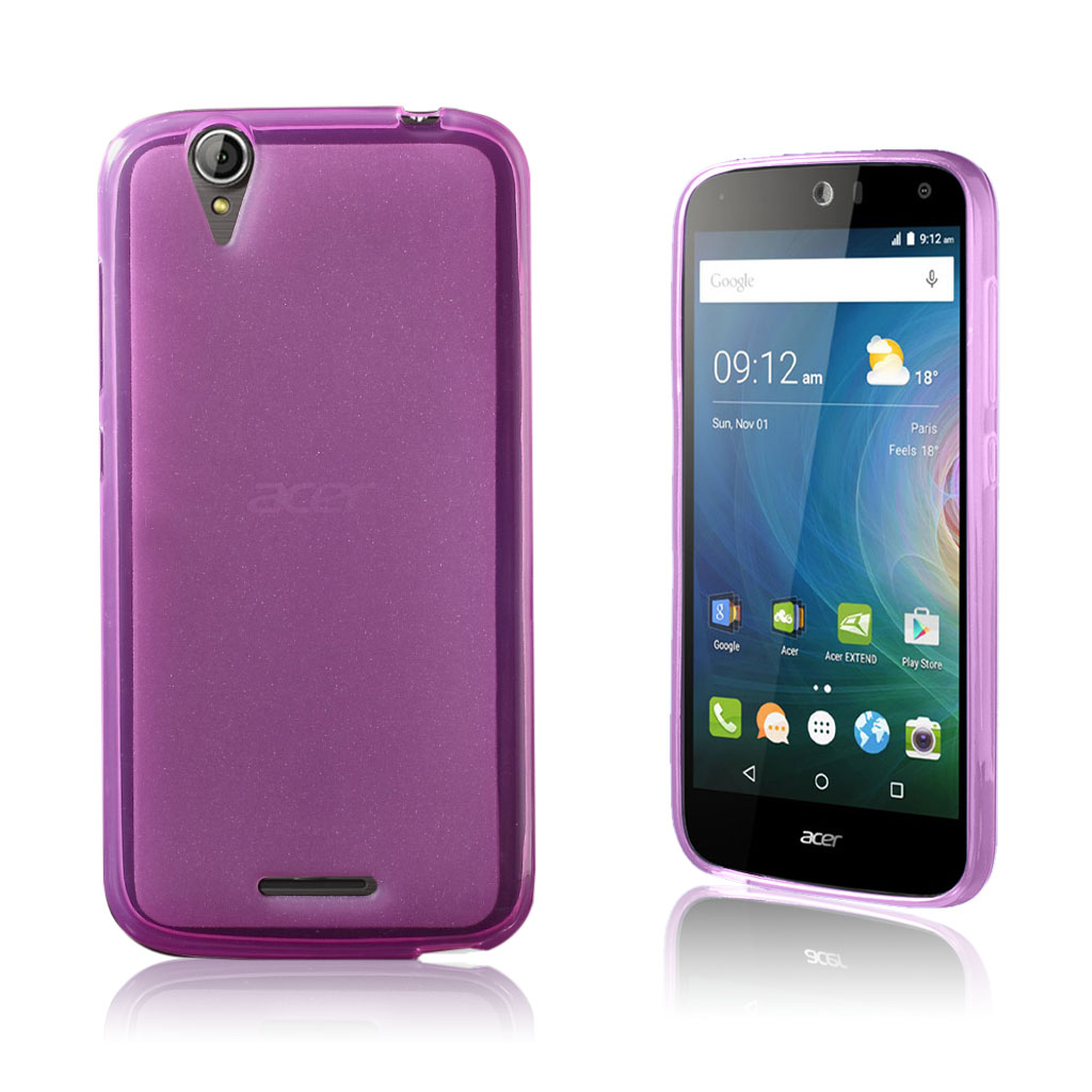 Acer Liquid Z630 matteret siliconecover - Hot Pink