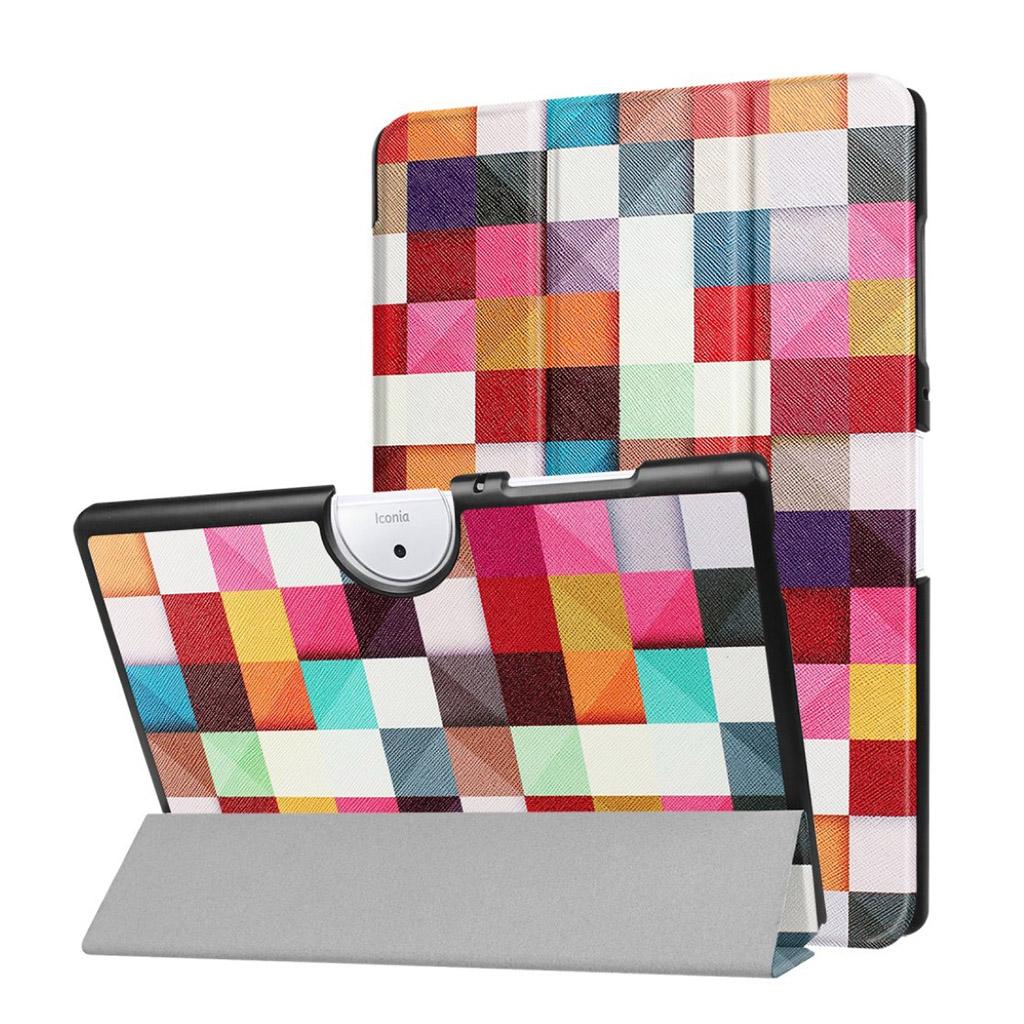 Image of   Acer Iconia Tab 10 B3-A40 Etui med tre-fold etui - Farverig trekanter