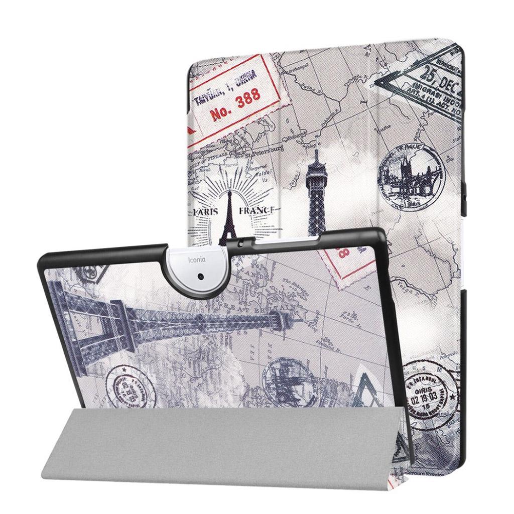 Image of   Acer Iconia Tab 10 B3-A40 Etui med tre-fold etui - Effeltårn og kort