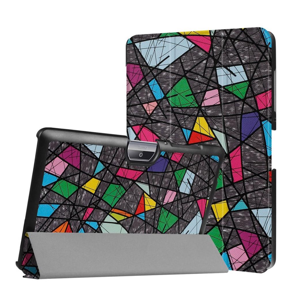 Image of   Acer Iconia Tab 10 B3-A30 Læder etui med smukt mønster - Geomestrisk linjer