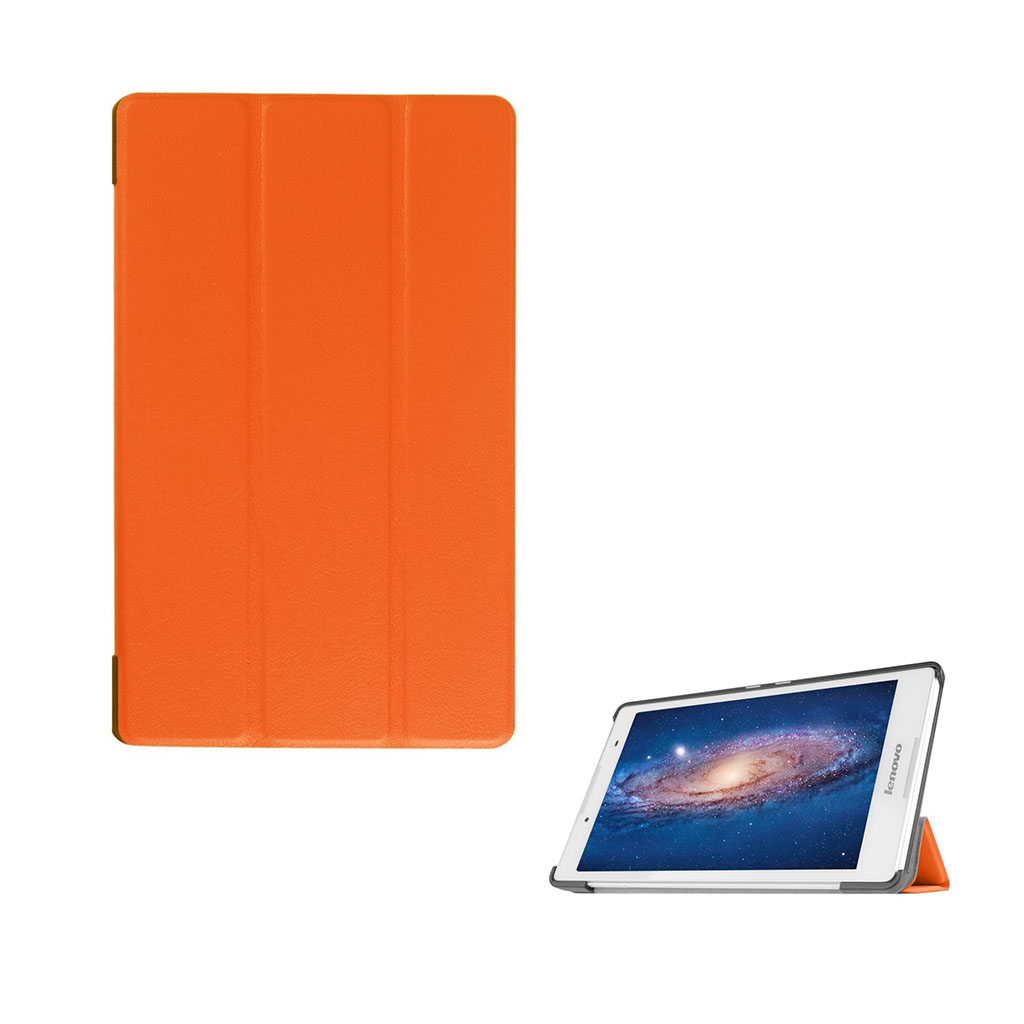 Image of   Amdrup tre-folds læder-etui til Lenovo Tab3 8.0 - Orange