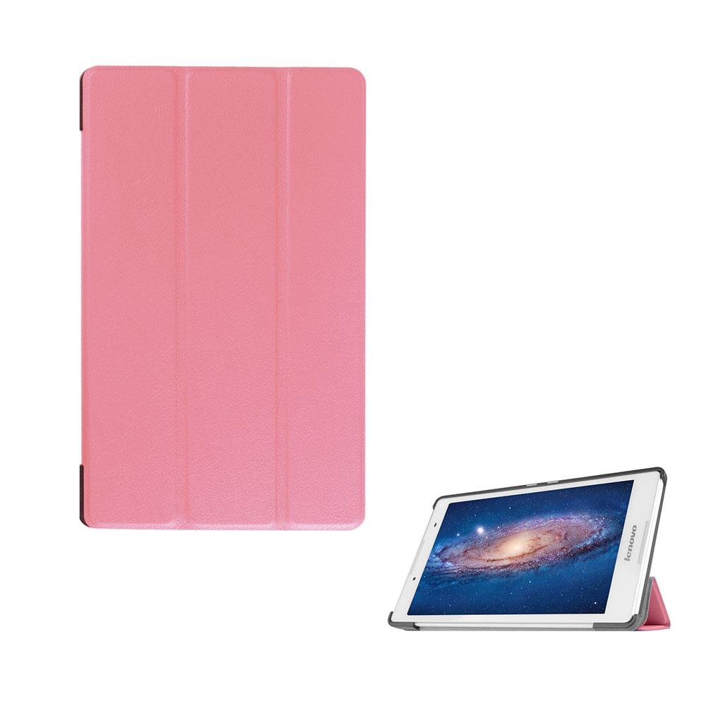 Image of   Amdrup tre-folds læder-etui til Lenovo Tab3 8.0 - Pink