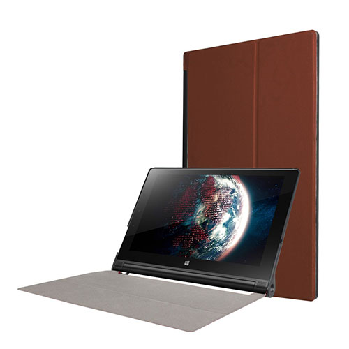 "Image of   Cover til 10"" Lenovo Yoga Tablet 3 med indbygget holder - Brun"