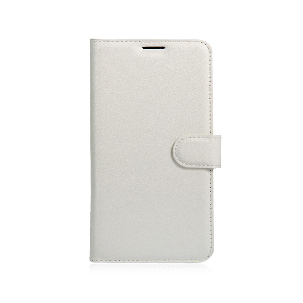 Mankell læder-etui med litchi tekstur til Lenovo K5 - Hvid