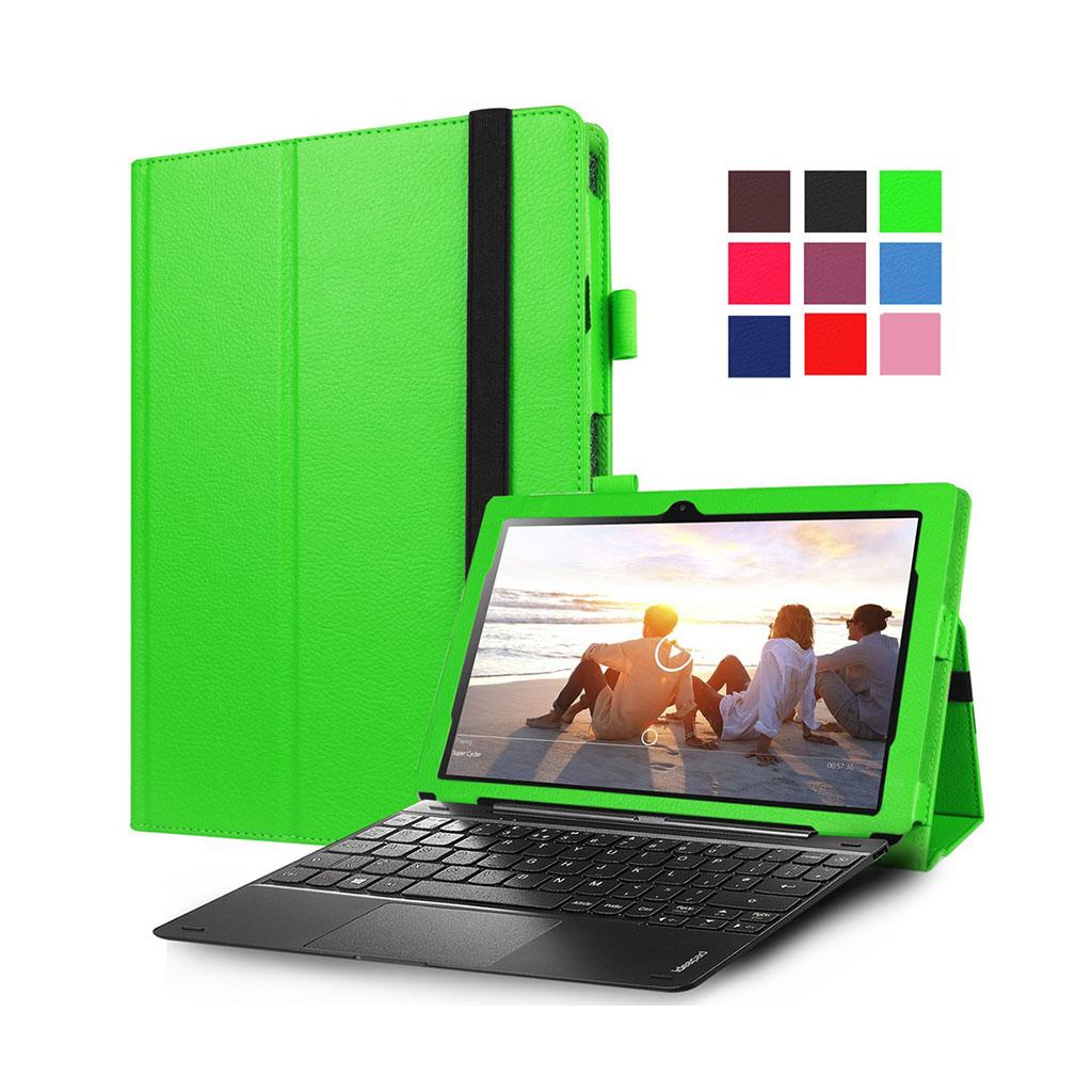 Image of   Amdrup læder-etui til Lenovo Miix 310 med litchi overflade - Grøn