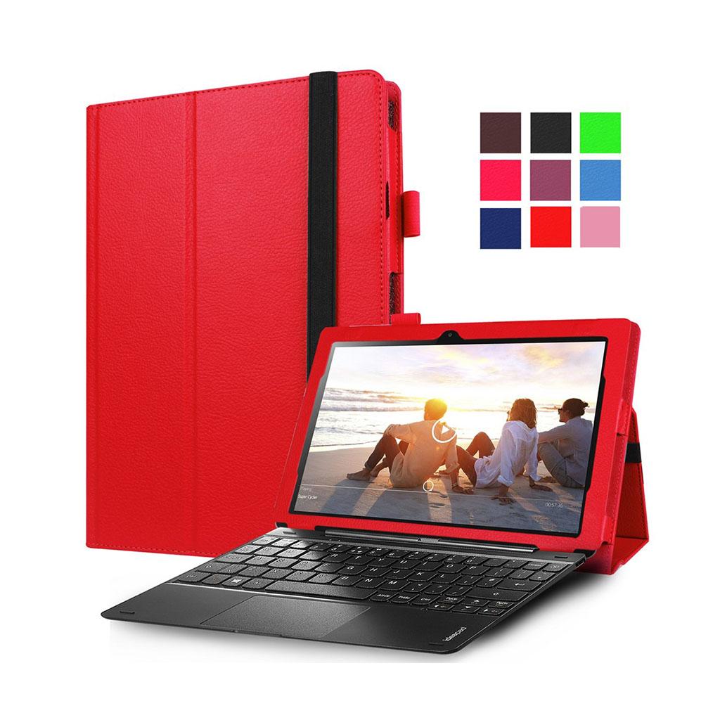 Image of   Amdrup læder-etui til Lenovo Miix 310 med litchi overflade - Rød