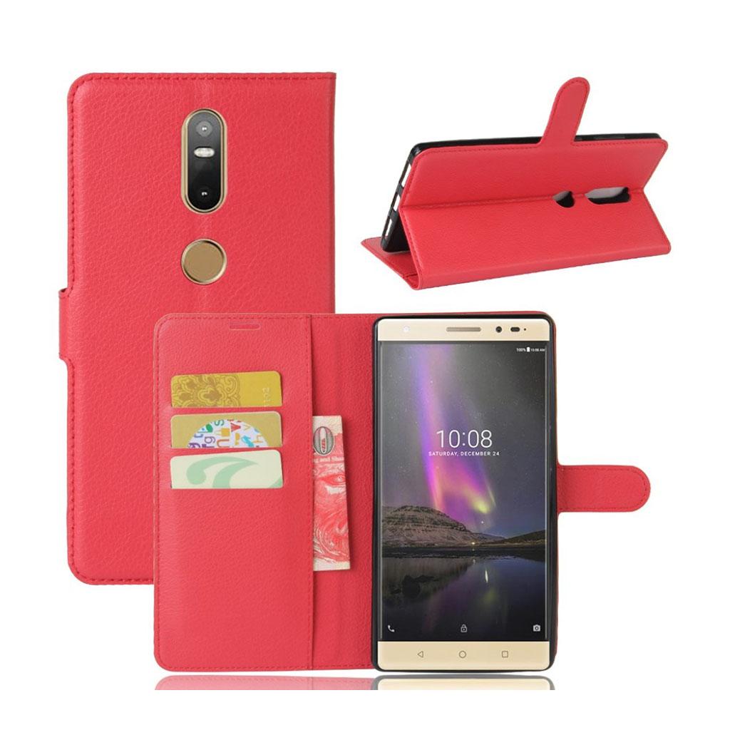 Lenovo Phab 2 Plus beskyttende og smart læder-etui - Rød