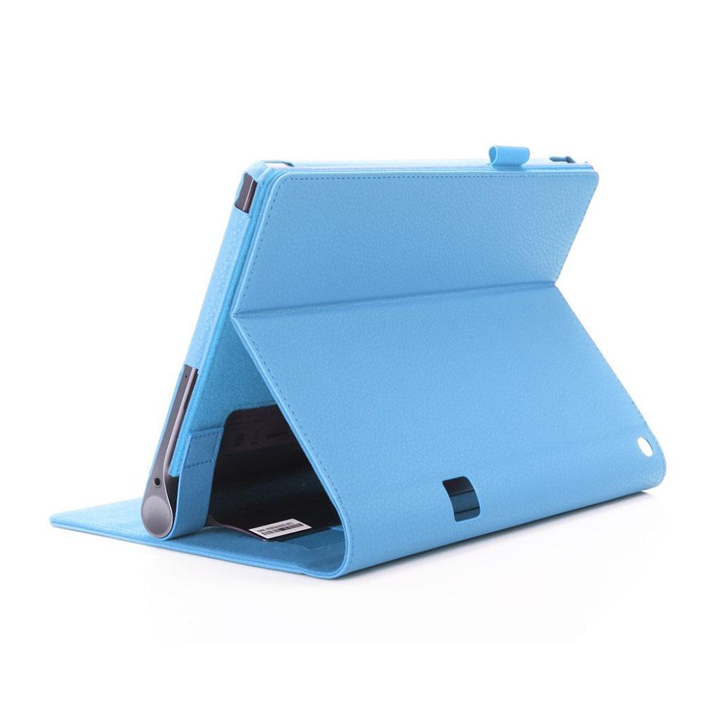 Image of   Lenovo Tab 3 Plus 10 PU leather flip case with elastic strap - Blue