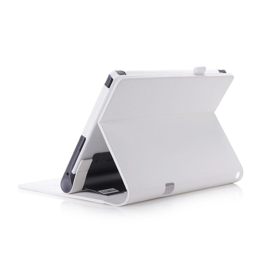 Image of   Lenovo Tab 3 Plus 10 PU leather flip case with elastic strap - White