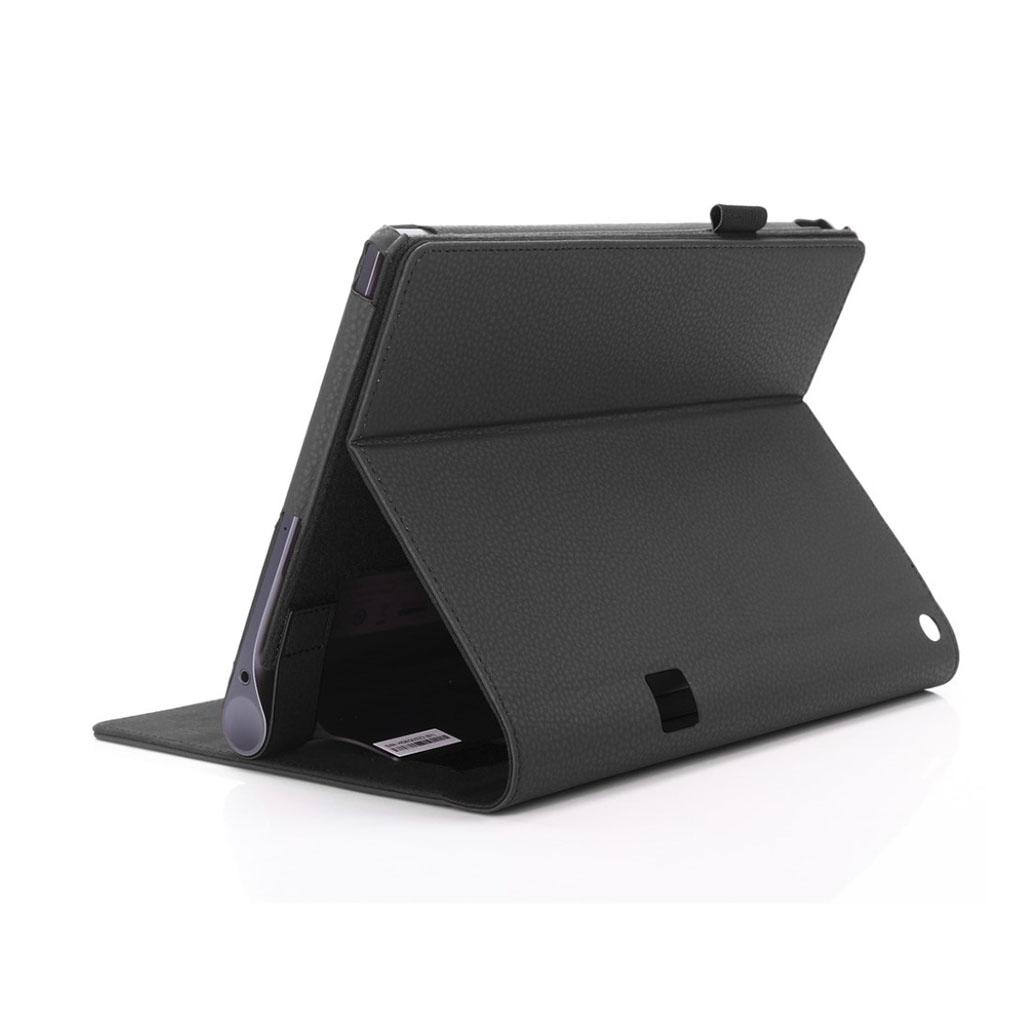 Image of   Lenovo Tab 3 Plus 10 PU leather flip case with elastic strap - Black