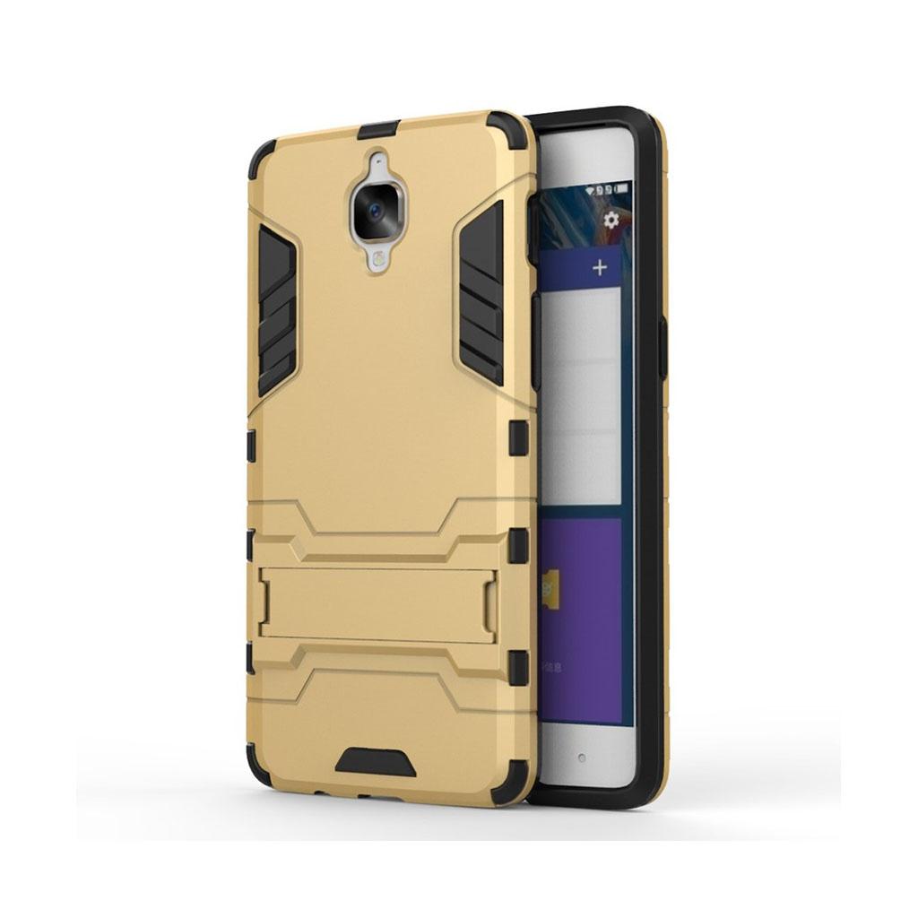 Rollo hybridcover med kickstand til OnePlus 3 - Guld