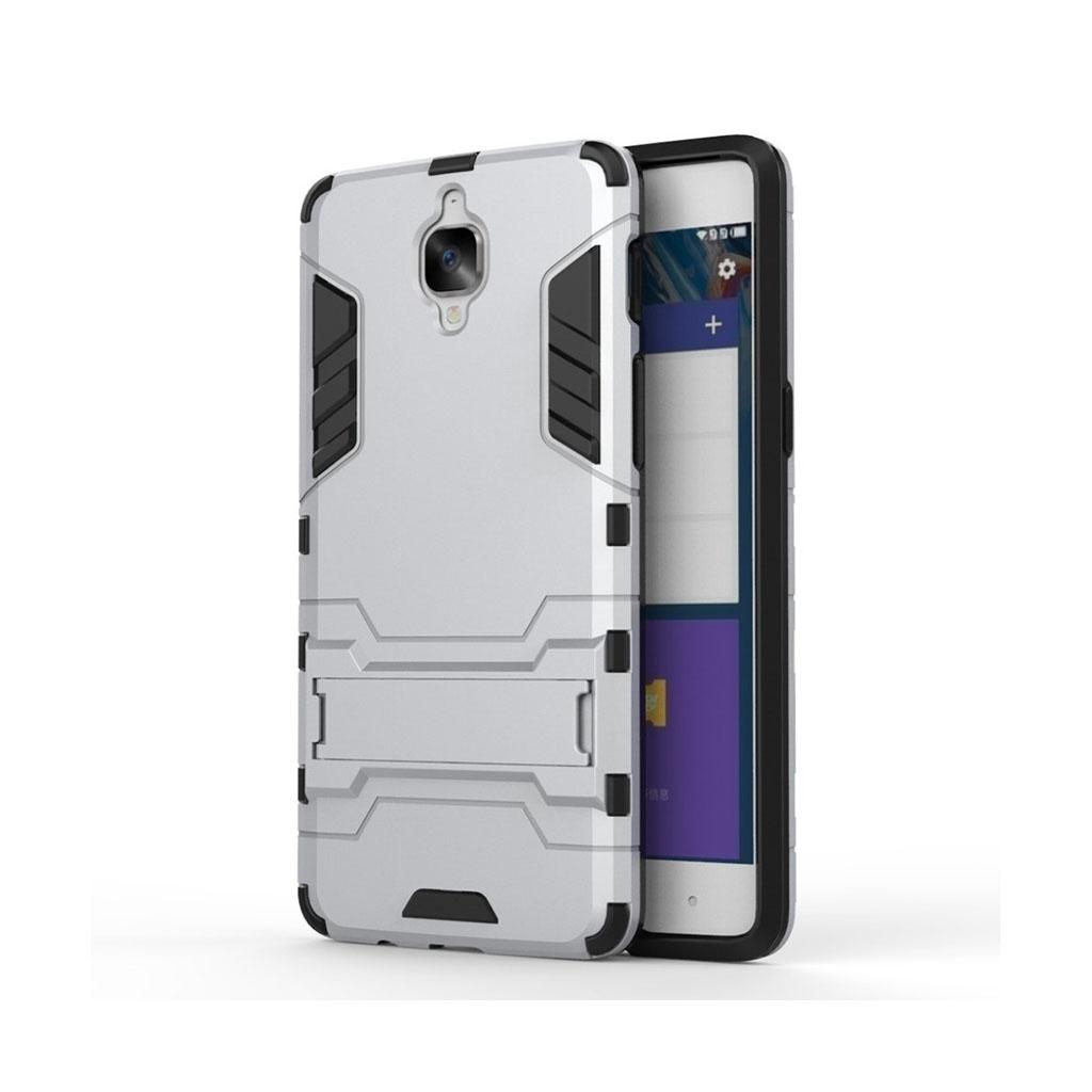 Rollo hybridcover med kickstand til OnePlus 3 - Sølv