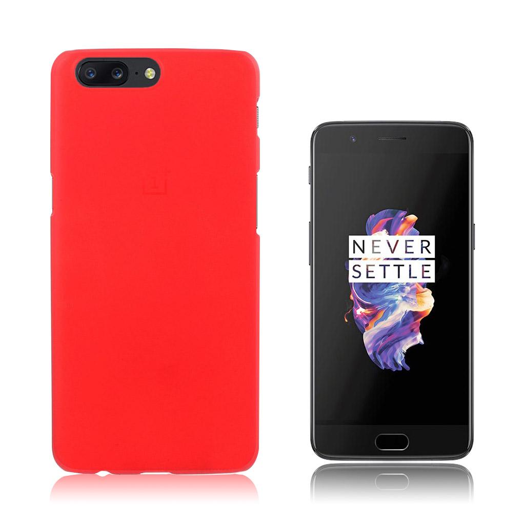 OnePlus 5 Smart og brugervenlig cover - Rød