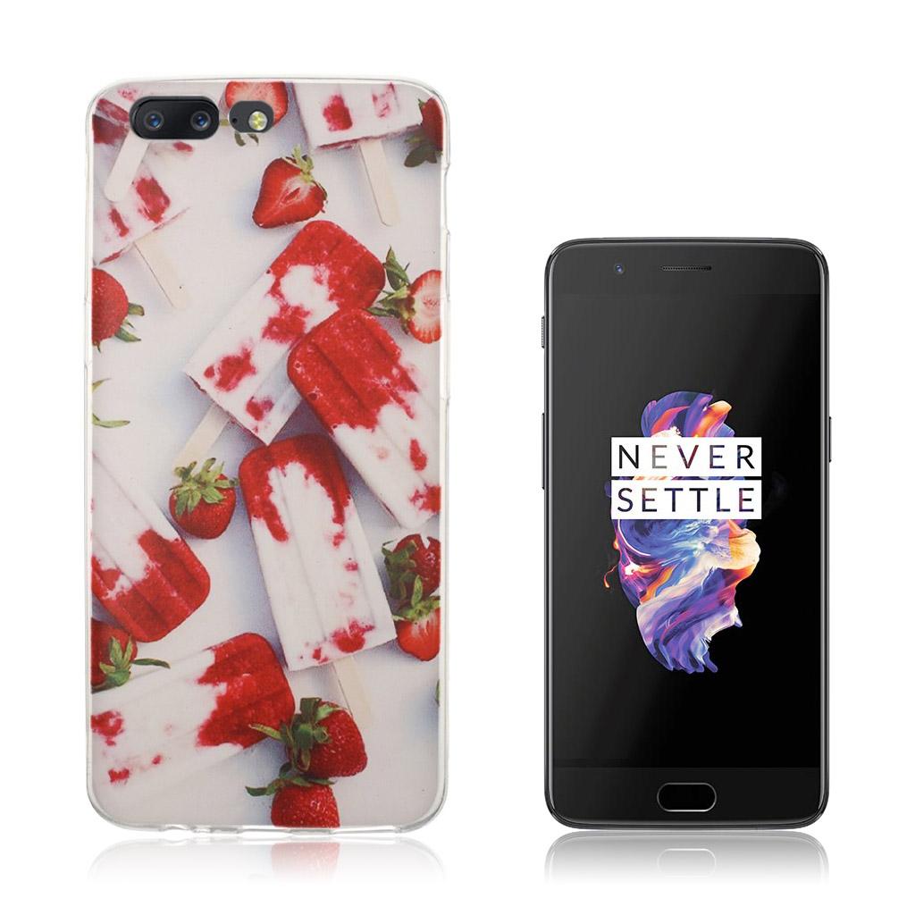 OnePlus 5 Ultra tyndt cover - Jordbær is