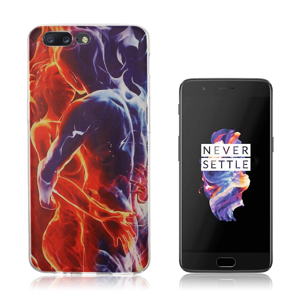OnePlus 5 Ultra tyndt cover - Kærlighed og ild