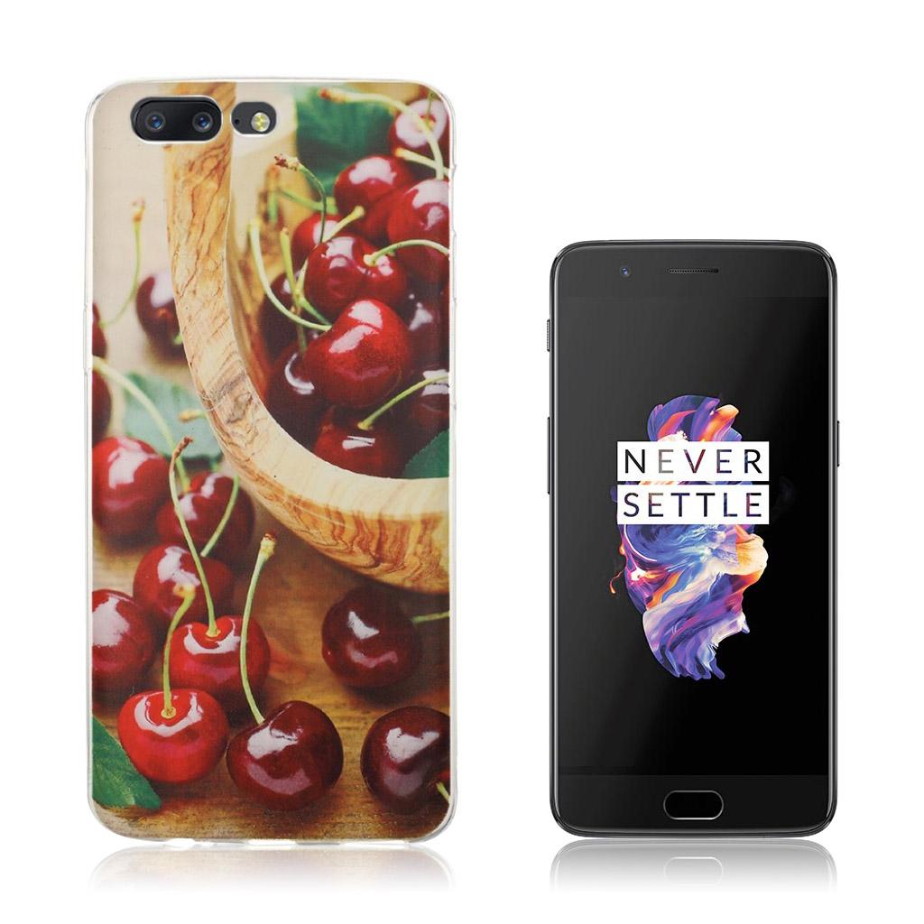 OnePlus 5 Ultra tyndt cover - Kirsebær