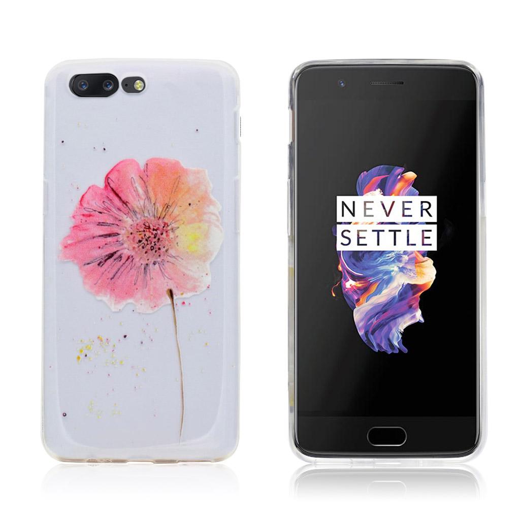 OnePlus 5 Flot og beskyttende cover - Blomst i flere farver