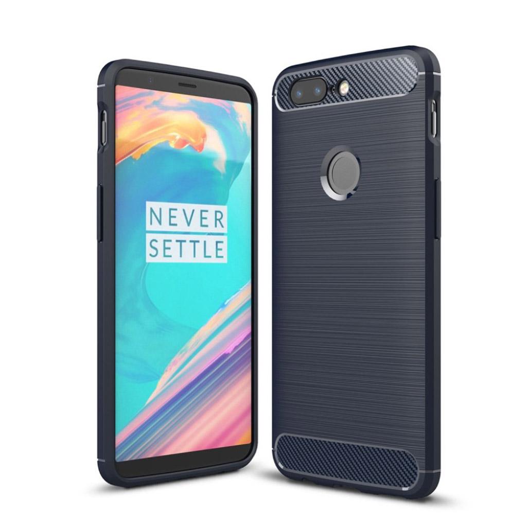 OnePlus 5T Silikone cover - Mørkeblå