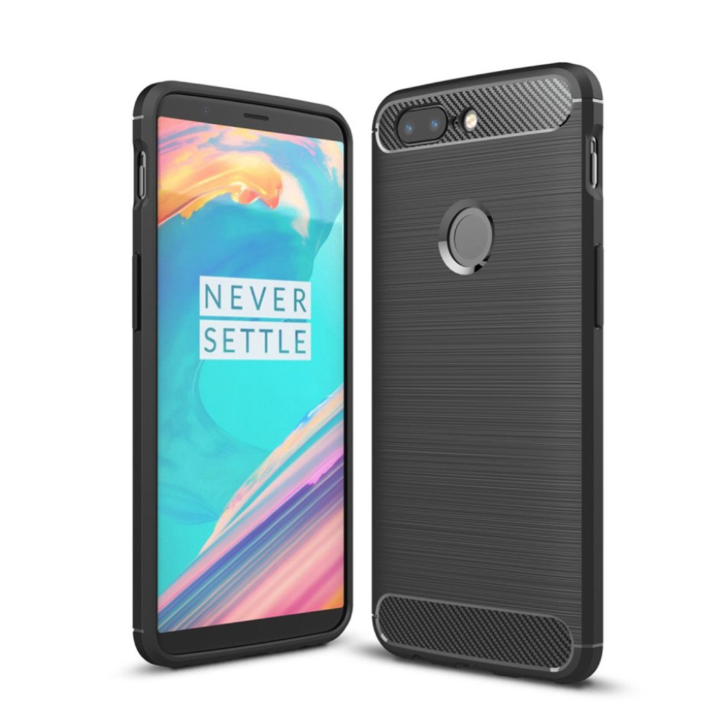 OnePlus 5T Silikone cover - Sort