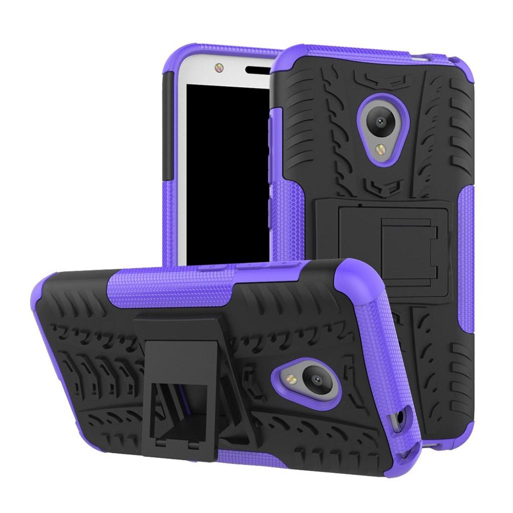 Image of   Alcatel U5 Hybridcover med dæk motiv - Lilla