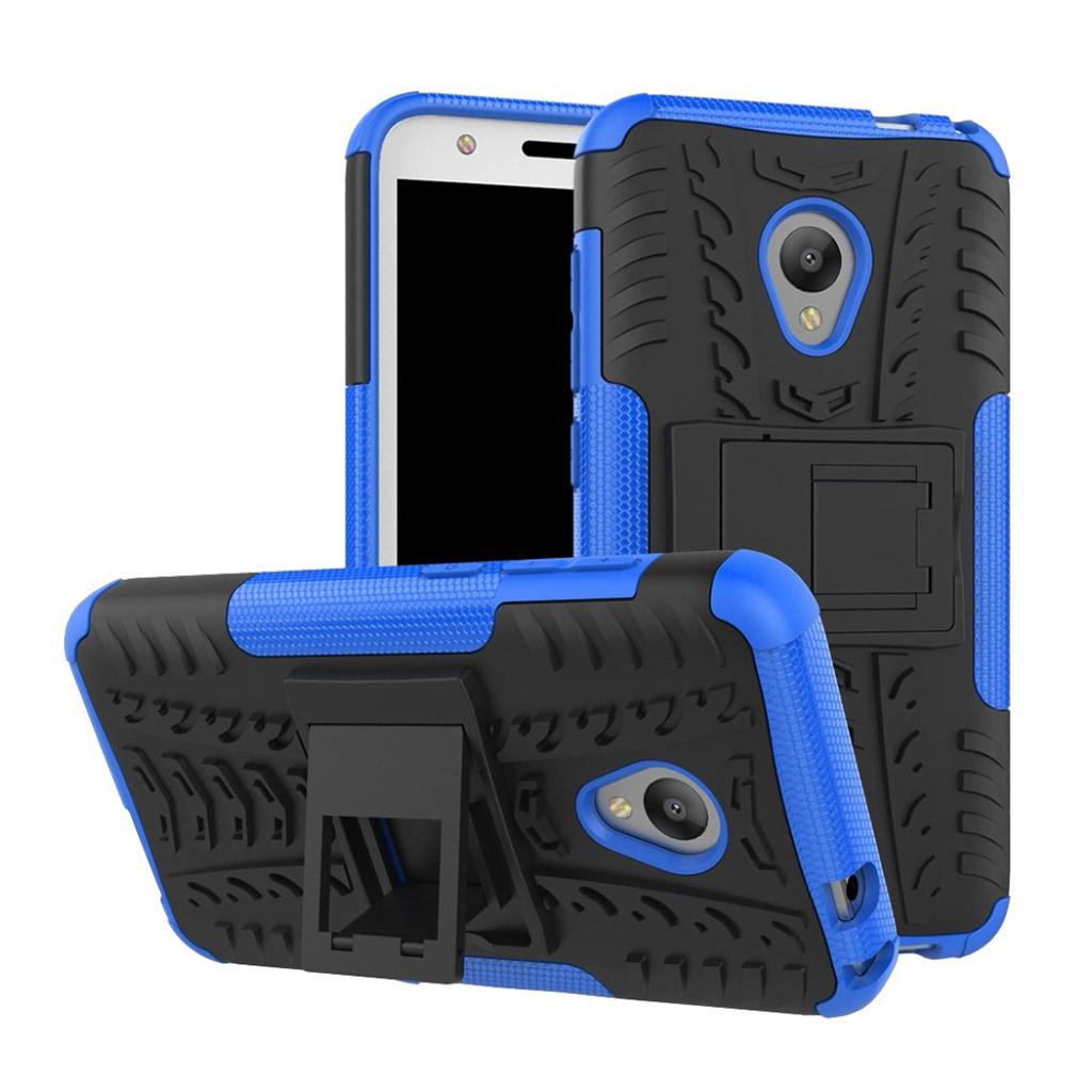 Image of   Alcatel U5 Hybridcover med dæk motiv - Blå