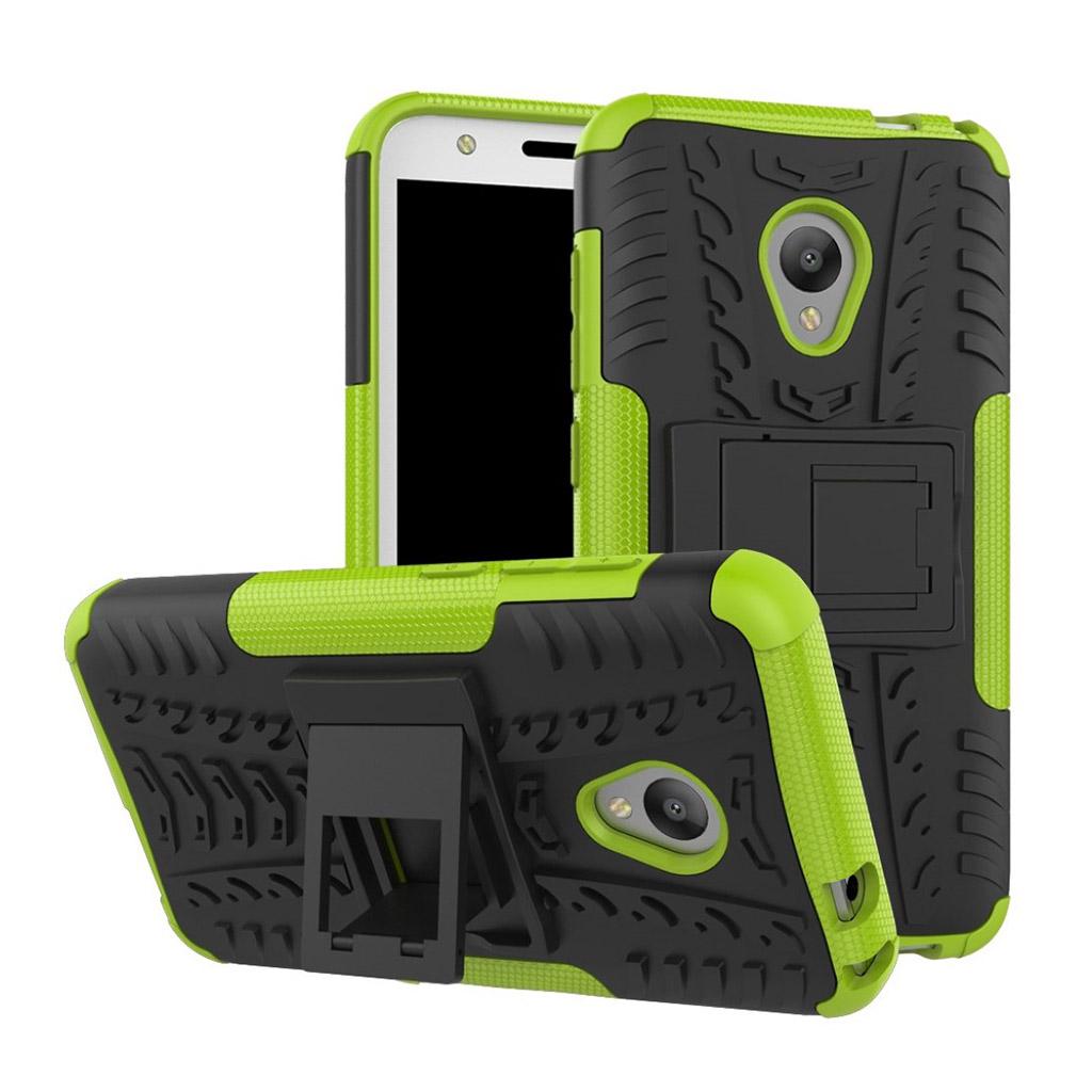 Image of   Alcatel U5 Hybridcover med dæk motiv - Grøn