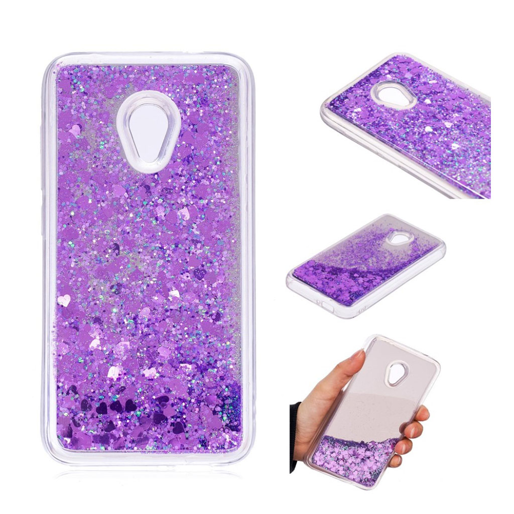Image of   Alcatel U5 glitter sequins mirror surface case - Purple
