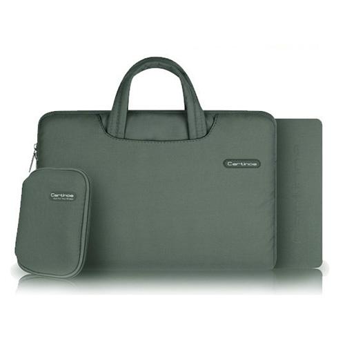 Image of   Cartinoe (Grå) Macbook Pro 11.6 Stof Taske med Lynlås