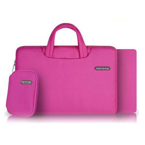 Image of   Cartinoe (Pink) Macbook Pro 15.4 Stof Taske med Lynlås