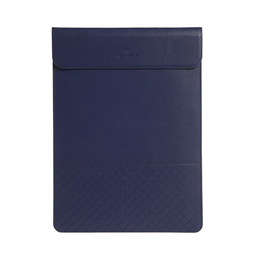 Image of   GEARMAX Envelope Laptop Leather Sleeve for 15.4-inch Apple MacBook 410x285mm - Blue