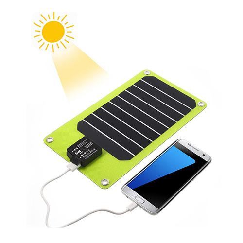 Image of   2-ports USB powerbank med solceller til smartphones