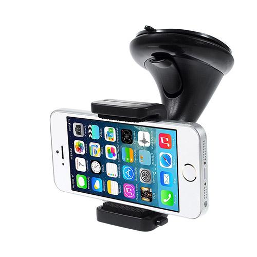 Image of   360 Graders Drejeligt Bilholder Med Sugekop Til Smartphones, Bredde: 5,6-8,7cm