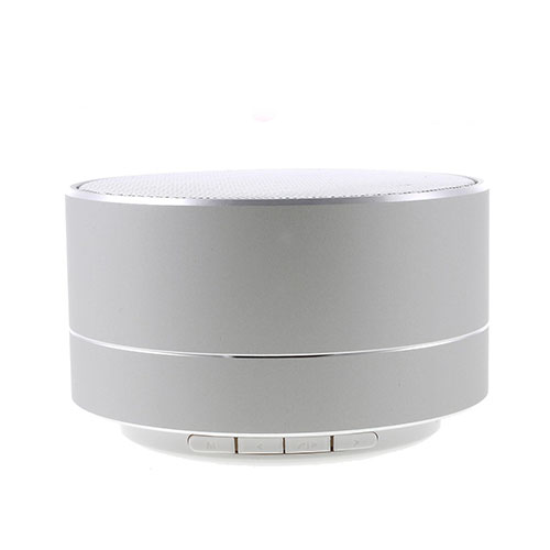 Image of   A10 Wireless Mini Speaker With Bluetooth - Silver Metal Skin