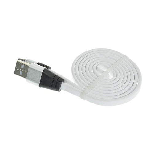 Image of   1m Flat Noodle Micro USB Cable - White