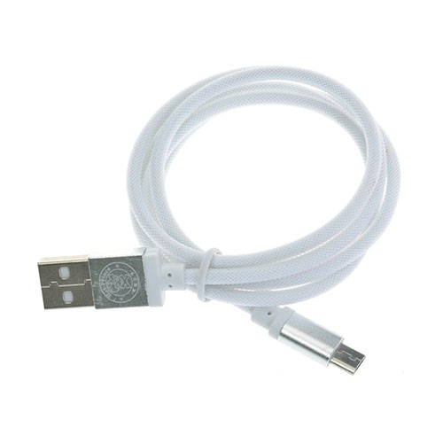 Image of   1m Mesh Micro USB Cable - White