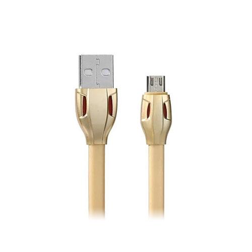 Image of   ROMIX 2.1A MicroUSB datasynkronisering- og opladningskabel - Guld
