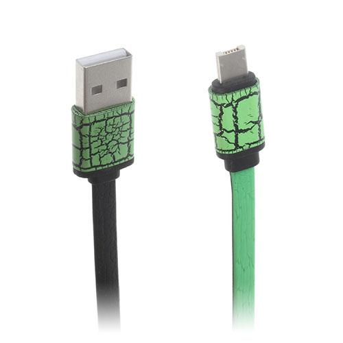 Image of   2-i-1 8pin & MicroUSB dataoverførsels- og opladerkabel til smartphones - Grøn