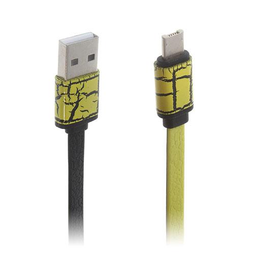 Image of   2-i-1 8pin & MicroUSB dataoverførsels- og opladerkabel til smartphones - Gul