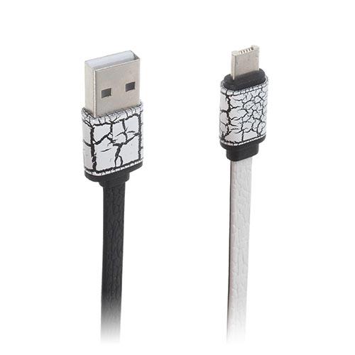 Image of   2-i-1 8pin & MicroUSB dataoverførsels- og opladerkabel til smartphones - Hvid