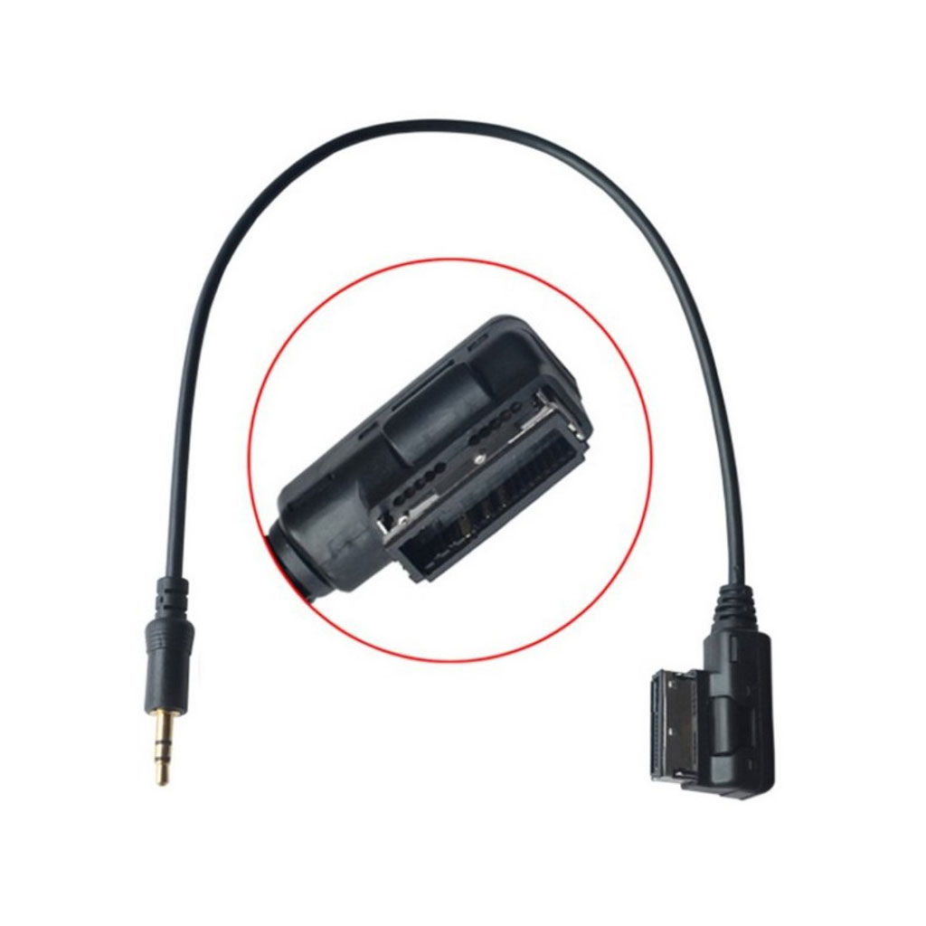 Universel CY CA-026-0.3M Media i AMI MDI til Stereo 3.5mm lyd Aux adapterkabel til biler VW AUDI 2014 A4 A6 Q5 Q7 og iPhone5 iPad Mini