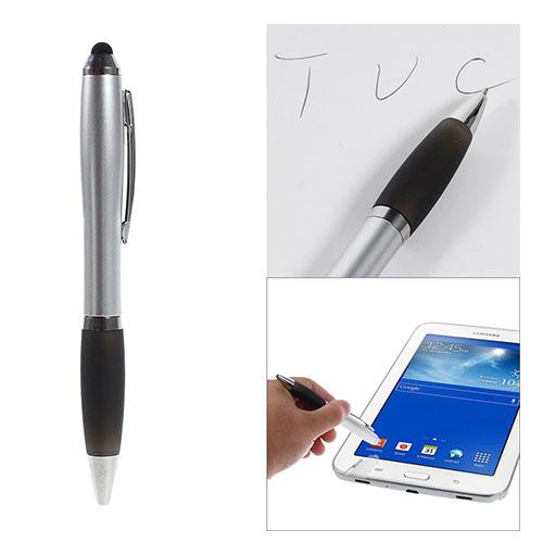 Image of   2-i-1 Touchscreen Pen - Kuglepen og Stylus til Smartphones og Tablets - Sort
