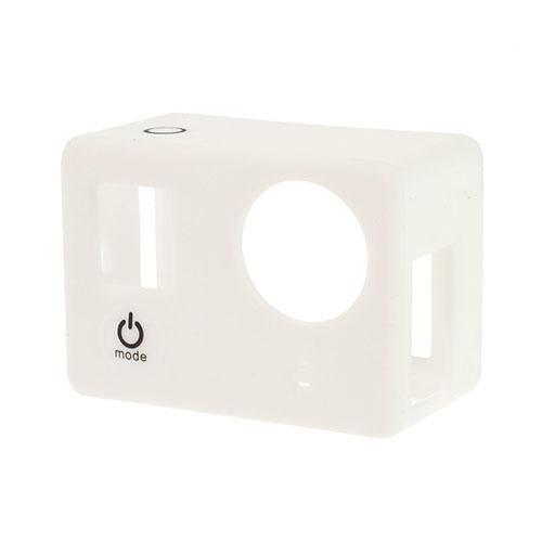 Beskyttende silikone etui til GoPro3 & 3+ - Hvid
