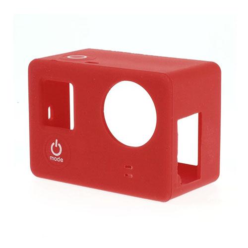 Beskyttende silikone etui til GoPro3 & 3+ - Rød