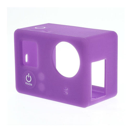 Beskyttende silikone etui til GoPro3 & 3+ - Lilla