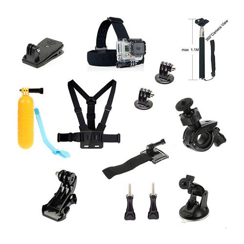 Image of   13-i-1 Sport tilbehørssæt til GoPro og action kameraer