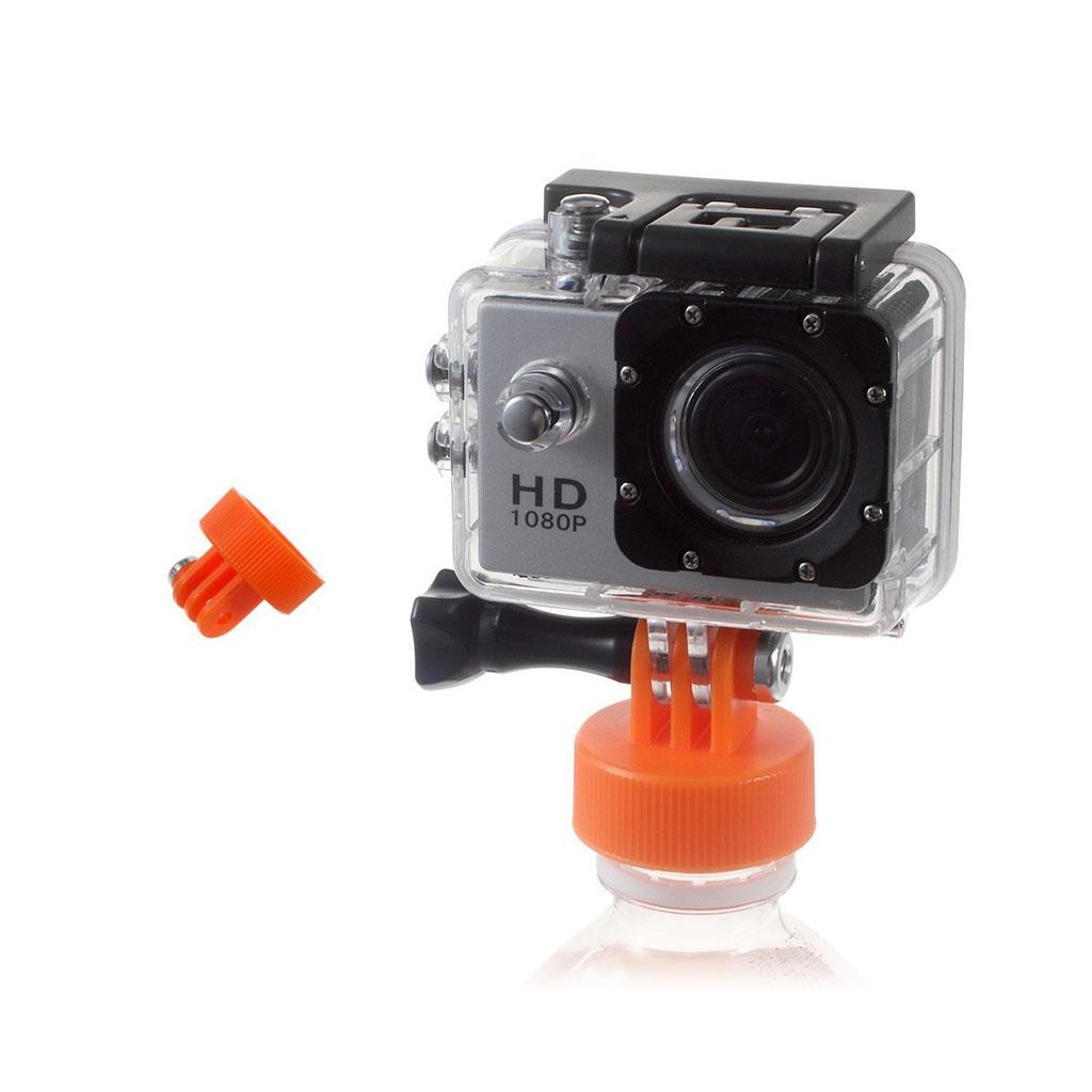 Monteringsbeslag til flasker til action kameraer - Orange