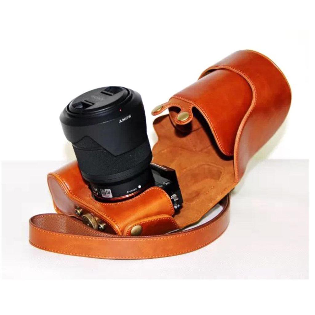 eb42f21250d7 Sony Alpha 6300A6000 Lækker kamera taske i læder Brun