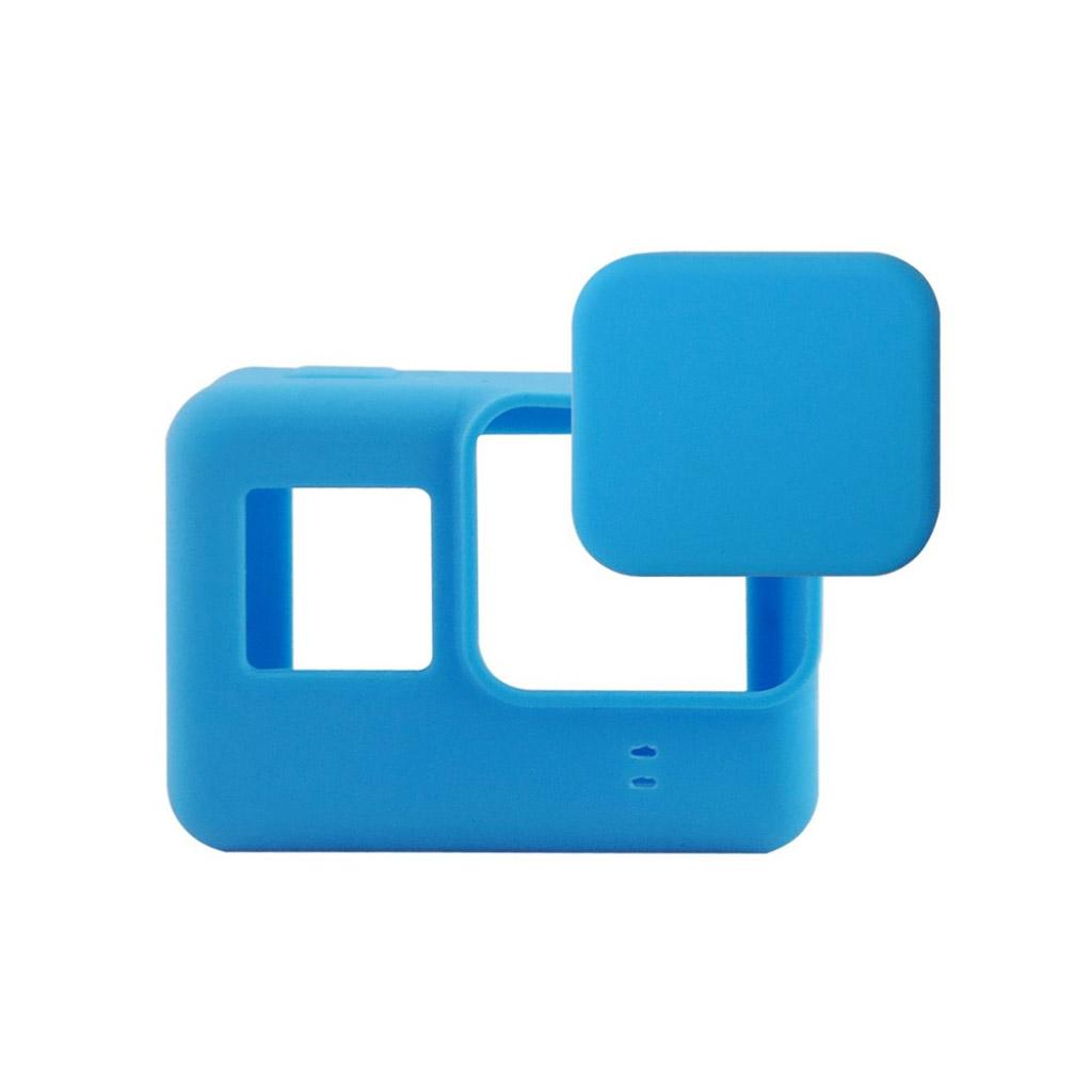 GoPro Hero5 silikonecover etui, med linse cover - Blå